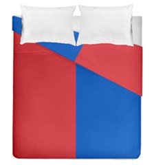 Red And Blue Duvet Cover Double Side (queen Size)