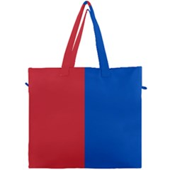 Red And Blue Canvas Travel Bag
