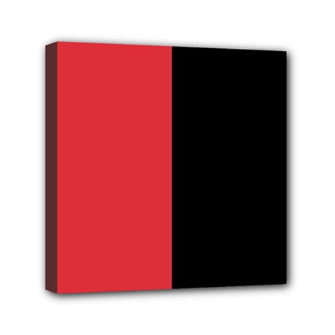 Red And Black Mini Canvas 6  X 6