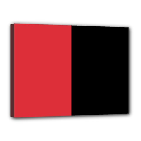 Red And Black Canvas 16  X 12  by jumpercat