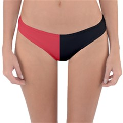 Red And Black Reversible Hipster Bikini Bottoms