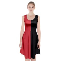 Red And Black Racerback Midi Dress