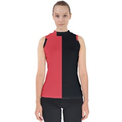 Red And Black Shell Top