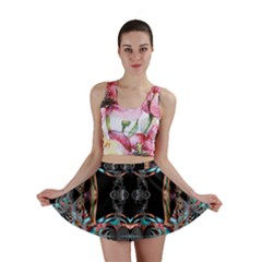 Fractal Math Design Backdrop Mini Skirt