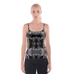 Fractal Math Design Backdrop Spaghetti Strap Top