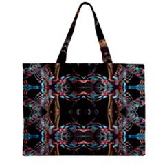 Fractal Math Design Backdrop Zipper Mini Tote Bag