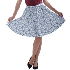 Abstract Ornament Tiles A Line Skater Skirt