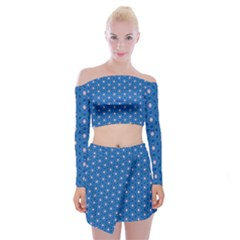 Star Light Off Shoulder Top With Mini Skirt Set