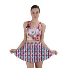 Arabic Ornament Stripes Mini Skirt