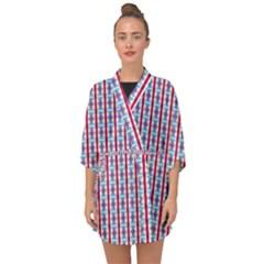 Arabic Ornament Stripes Half Sleeve Chiffon Kimono by jumpercat