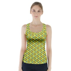 Mechanical Pattern Racer Back Sports Top