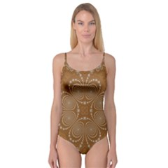 Fractal Pattern Decoration Abstract Camisole Leotard