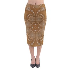 Fractal Pattern Decoration Abstract Midi Pencil Skirt