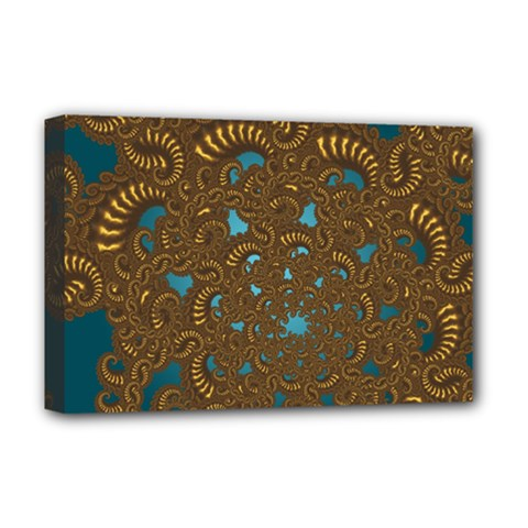 Fractal Abstract Pattern Deluxe Canvas 18  X 12