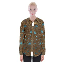 Fractal Abstract Pattern Womens Long Sleeve Shirt