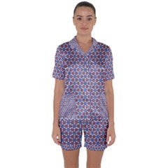 Galactic Trip Satin Short Sleeve Pyjamas Set