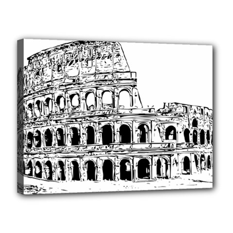Line Art Architecture Canvas 16  X 12