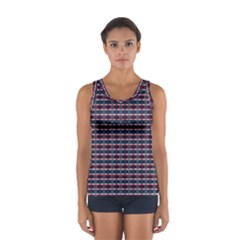 Elegant Dark Stripes Sport Tank Top