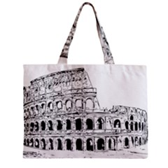 Line Art Architecture Zipper Mini Tote Bag