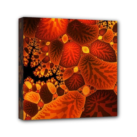 Leaf Autumn Nature Background Mini Canvas 6  X 6