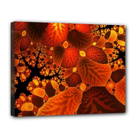 Leaf Autumn Nature Background Canvas 14  X 11