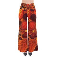Leaf Autumn Nature Background So Vintage Palazzo Pants by Sapixe
