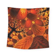 Leaf Autumn Nature Background Square Tapestry (small) by Sapixe