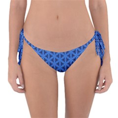 Blue Snake Scales Pattern Reversible Bikini Bottom