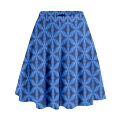 Blue Snake Scales Pattern High Waist Skirt