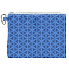Blue Snake Scales Pattern Canvas Cosmetic Bag (xxl)