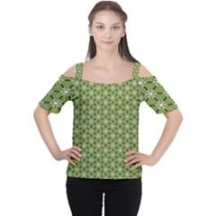 Greenville Pattern Cutout Shoulder Tee