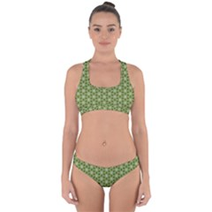 Greenville Pattern Cross Back Hipster Bikini Set