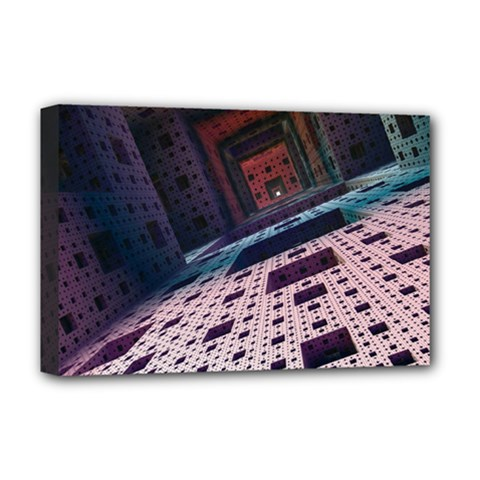 Industry Fractals Geometry Graphic Deluxe Canvas 18  X 12