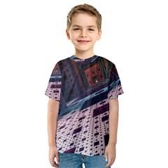 Industry Fractals Geometry Graphic Kids  Sport Mesh Tee