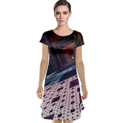 Industry Fractals Geometry Graphic Cap Sleeve Nightdress