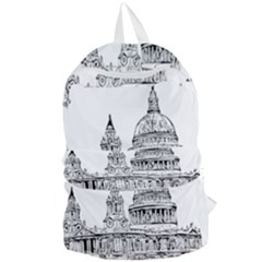 Line Art Architecture Church Foldable Lightweight Backpack