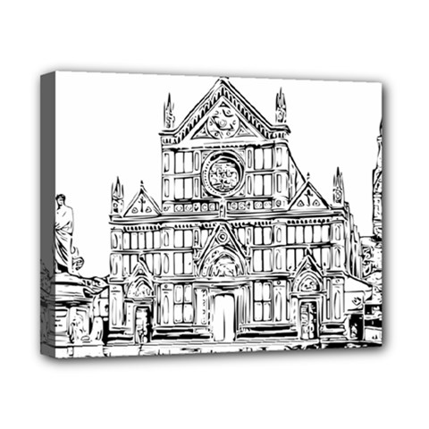 Line Art Architecture Church Italy Canvas 10  X 8