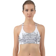 Line Art Architecture Church Italy Back Web Sports Bra