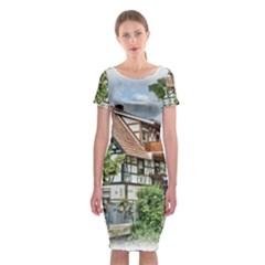 Homes Building Classic Short Sleeve Midi Dress