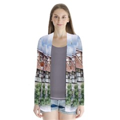 Homes Building Drape Collar Cardigan