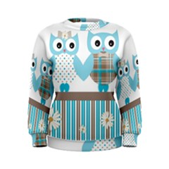 Owl Animal Daisy Flower Stripes Women s Sweatshirt