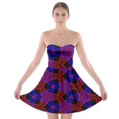 Pattern Abstract Wallpaper Art Strapless Bra Top Dress