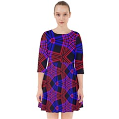 Pattern Abstract Wallpaper Art Smock Dress