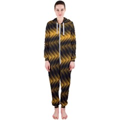 Ornament Stucco Close Pattern Art Hooded Jumpsuit (ladies)
