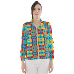 Pop Art Abstract Design Pattern Windbreaker (women)