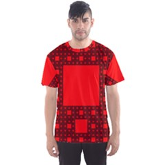 Sierpinski Carpet Plane Fractal Men s Sports Mesh Tee