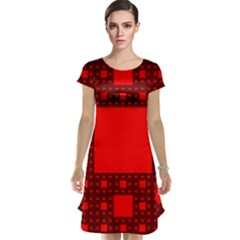 Sierpinski Carpet Plane Fractal Cap Sleeve Nightdress