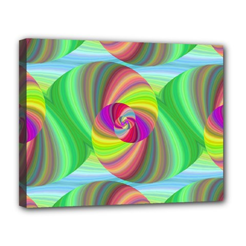 Seamless Pattern Twirl Spiral Canvas 14  X 11