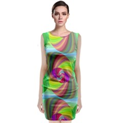 Seamless Pattern Twirl Spiral Classic Sleeveless Midi Dress