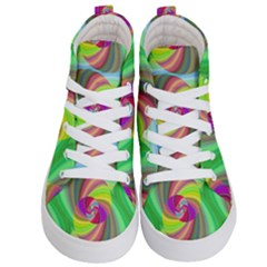 Seamless Pattern Twirl Spiral Kid s Hi Top Skate Sneakers